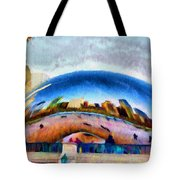 Chicago Reflected Tote Bag by Jeff Kolker