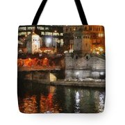 Chicago River At Michigan Avenue Tote Bag
