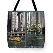 Chicago River Boat Rides 2 Panel Tote Bag