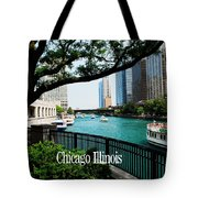Chicago River Front Tote Bag
