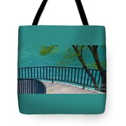 Chicago River Green Tote Bag
