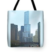 Chicago River Sights Tote Bag