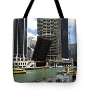 Chicago River Walk Construction Tote Bag