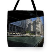 Chicago River Walk Going East 02 Tote Bag