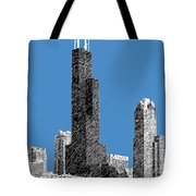 Chicago Sears Tower - Slate Tote Bag