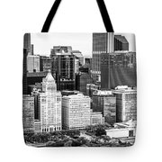 Chicago Skyline Aerial Panorama Photo Tote Bag
