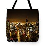 Chicago Skyline At Night I Tote Bag