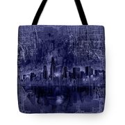Chicago Skyline Blueprint Tote Bag