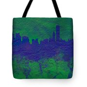 Chicago Skyline Brick Wall Mural 2 Tote Bag