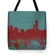 Chicago Skyline Brick Wall Mural  Tote Bag