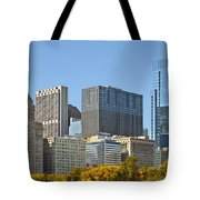 Chicago Skyline From Millenium Park II Tote Bag by Christine Till