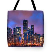 Chicago Skyline From Navy Pier View 2 Tote Bag