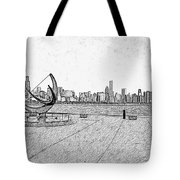 Chicago Skyline Hard Ink Tote Bag