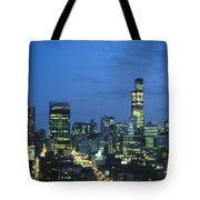 Chicago Skyline May 1983 Twilight Tote Bag