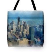 Chicago Skyline Photo Art 06 Tote Bag