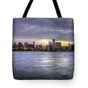 Chicago Skyline Sunset Tote Bag