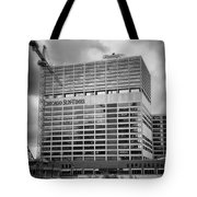 Chicago Sun Times Facade After The Storm Bw Tote Bag