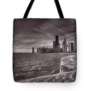 Chicago Sunrise Bw Tote Bag