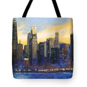 Chicago Sunset Looking South Tote Bag