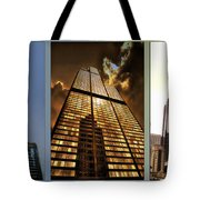 Chicago Tall Shoulders Trump Sears 333 W Wacker Triptych 3 Panel 01 Tote Bag