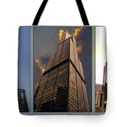 Chicago Tall Shoulders Trump Sears 333 Wacker Triptych 3 Panel 03 Tote Bag