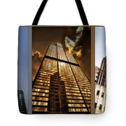 Chicago Tall Shoulders Trump Sears Tribune Triptych 3 Panel 01 Tote Bag