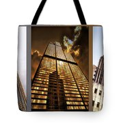 Chicago Tall Shoulders Trump Sears Tribune Triptych 3 Panel 02 Tote Bag