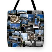 Chicago The Bean Collage Tote Bag