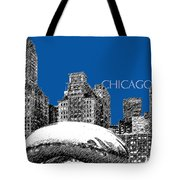 Chicago The Bean - Royal Blue Tote Bag