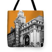 Chicago Theater - Dark Orange Tote Bag