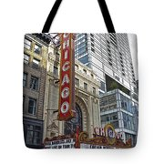 Chicago Theater Facade Northside Tote Bag