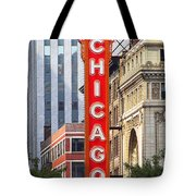 Chicago Theatre - A Classic Chicago Landmark Tote Bag by Christine Till