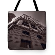 Chicago Towers Bw Tote Bag