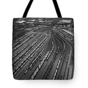 Chicago Transportation 02 Black And White Tote Bag