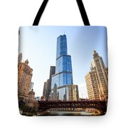 Chicago Trump Tower At Michigan Avenue Bridge Tote Bag by Paul Velgos