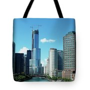 Chicago Trump Tower Under Construction Tote Bag
