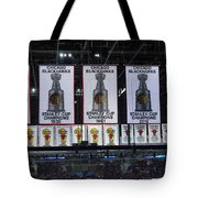 Chicago United Center Banners Tote Bag