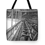 Chicago United Center Before The Gates Open Blackhawk Seat One Bw Hdr Tote Bag