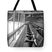 Chicago United Center Before The Gates Open Blackhawk Seat One Bw Tote Bag