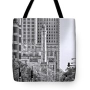 Chicago Water Tower Beacon Black And White Tote Bag