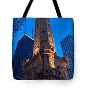 Chicago Water Tower Panorama Tote Bag