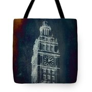 Chicago Wrigley Clock Tower Textured Tote Bag