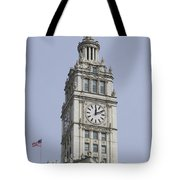 Chicago Wrigley Clock Tower Tote Bag