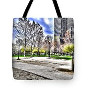 Chicago's Jane Addams Memorial Park From The Series The Imprint Of Man In Nature Tote Bag