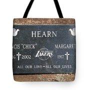 Chick Hearn Grave Tote Bag