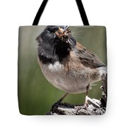 Chickadee Bringing Lunch To The Kids Tote Bag