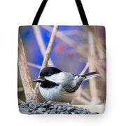 Chickadee Feast Tote Bag