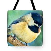 Chickadee Greeting Card Size - Digital Paint Tote Bag