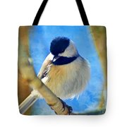 Chickadee On A Bright Day -digital Paint I Tote Bag