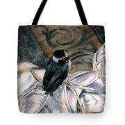 Chickadee On A Sneaker Tote Bag